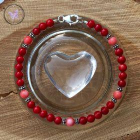Red & Pink Coral Bracelet